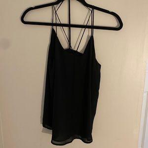 Black strappy blouse